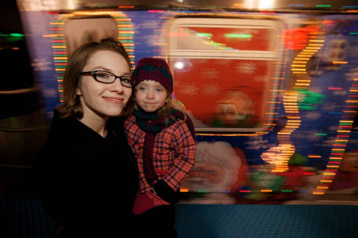 Anna and Ella at the Chicago Holiday Train