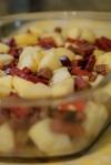 apple rhubarb crumble beforebaking