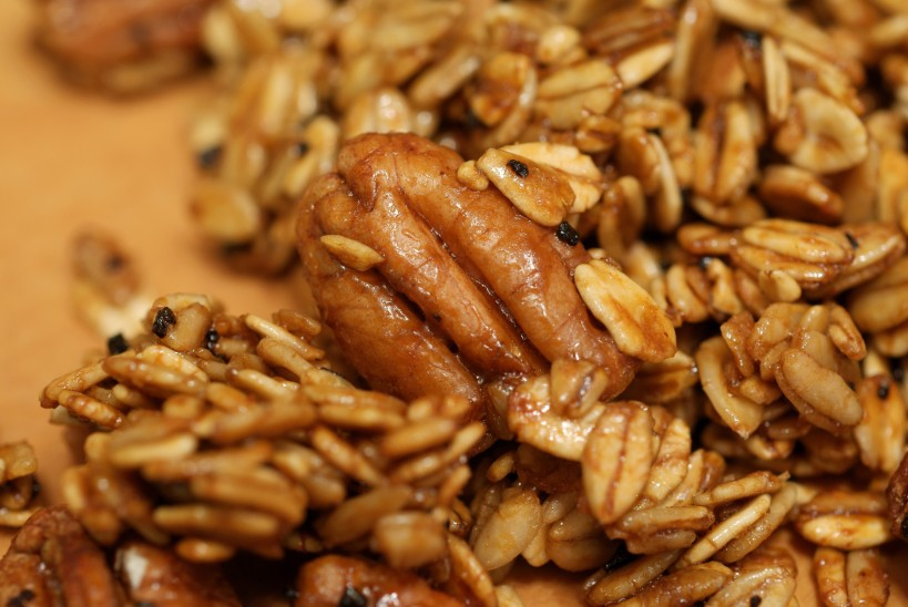 close up single pecan