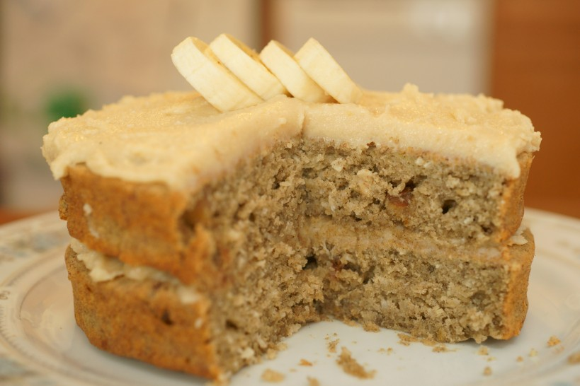 Cake Recipes For Icing: Banana-Coconut Cake With Agave Frosting