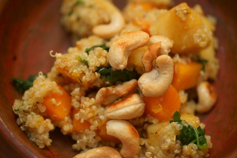 quinoa cashew salad